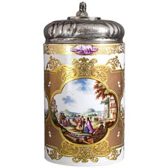 Meissen Tankard Painted with Rich Gold-Ornaments, rd 1740
