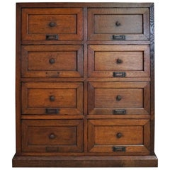French Oak Apothecary Cabinet, 1870s