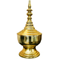 Reliquary Urn from Burma in Brass