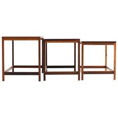 Early Danish Nesting Tables in Rosewood