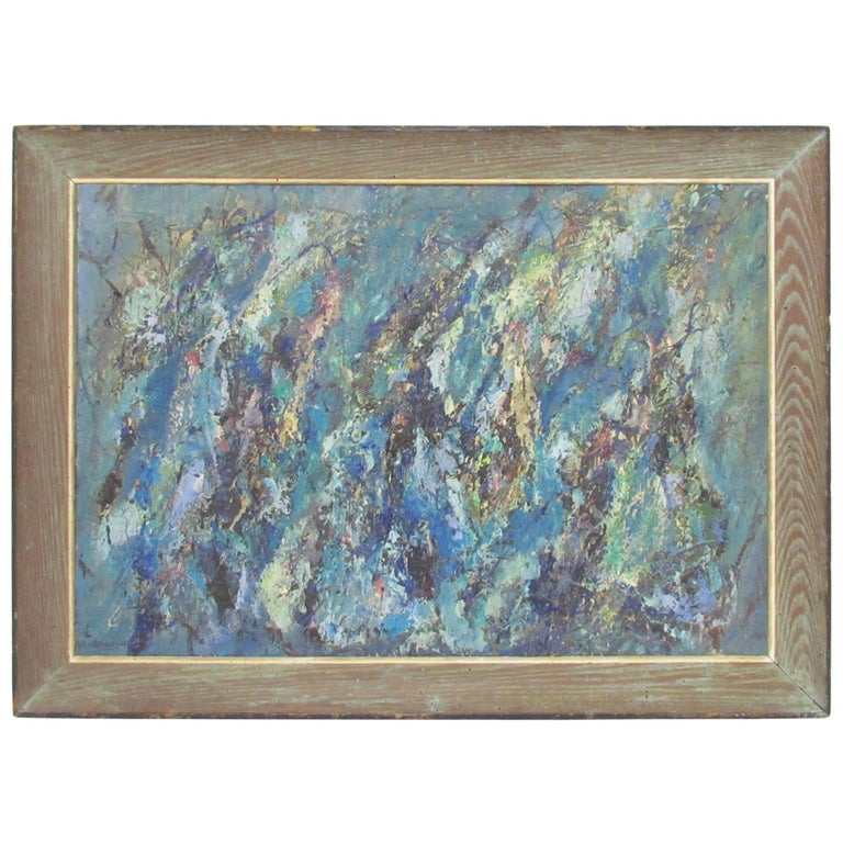 Abstract Expressionist Oil by Virginia Mortenson Francis, 1961