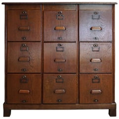 English Oak Filing Cabinet, 1930s