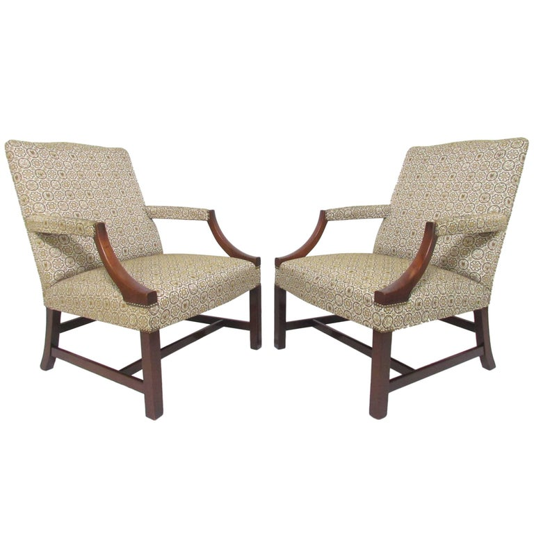 Stupendous Pair Of Baker Furniture George Iii Style Gainsborough Ocoug Best Dining Table And Chair Ideas Images Ocougorg