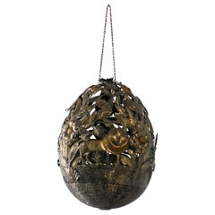 Sergio Bustamante Hanging Orb Sculpture, Rare and Whimsical
