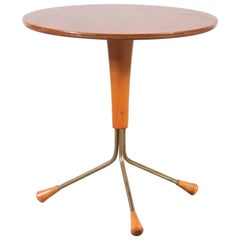 Tripod Side Table by Albert Larsson for Tibro, Sweden 1950