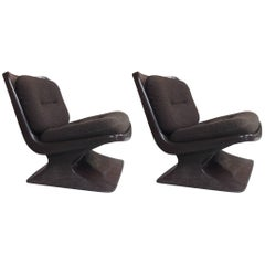 Space Age French Design Pair of Lounge Chair by Albert Jacob for Grosfillex