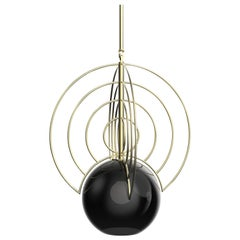 Aeneas Black Brass Light by Iacoli & McAllister, Handmade in USA