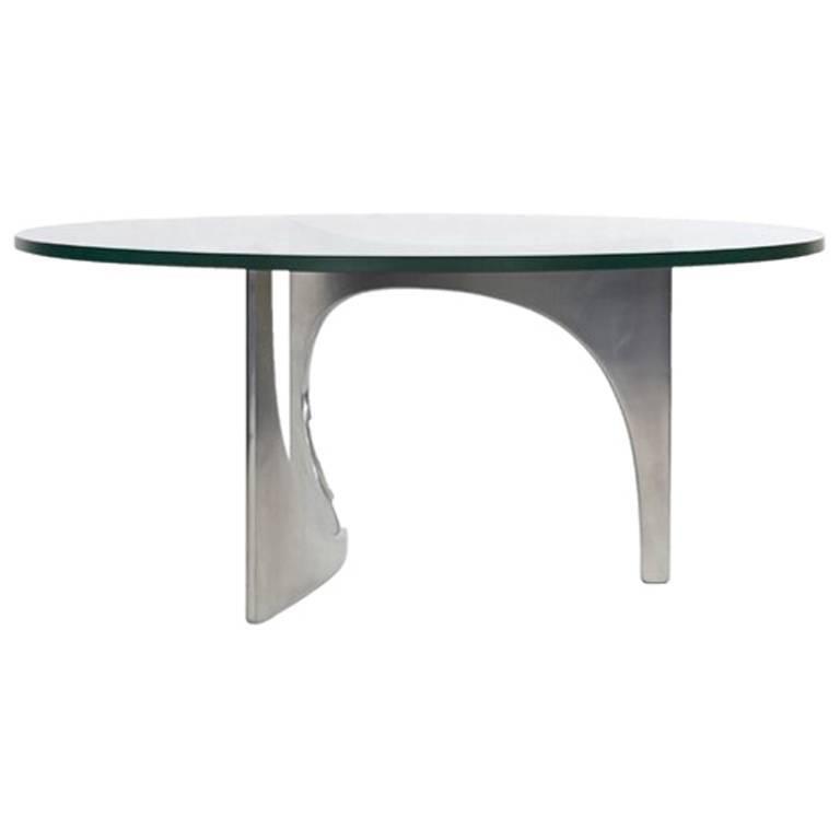 Sculptural Side Table by German Sculptor Knut Hesterberg, 1970s