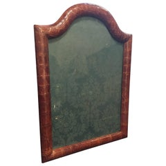Large Edwardian Dome Topped Crocodile Skin Photograph Frame by Asprey & Co