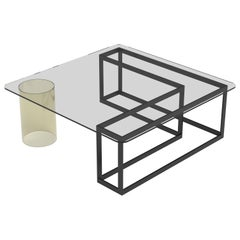 Nunki Square Coffee Table by Iacoli & McAllister, Handmade in USA