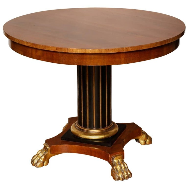 Regency Parcel-Gilt Ebonized Centre Table For Sale