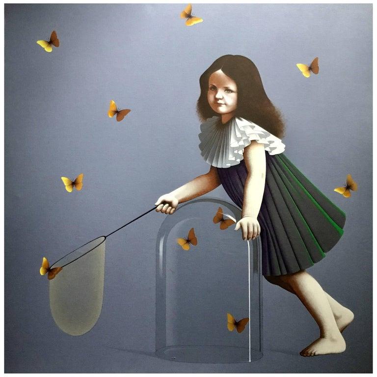 Butterflies, Original Painting by Lynn Curlee