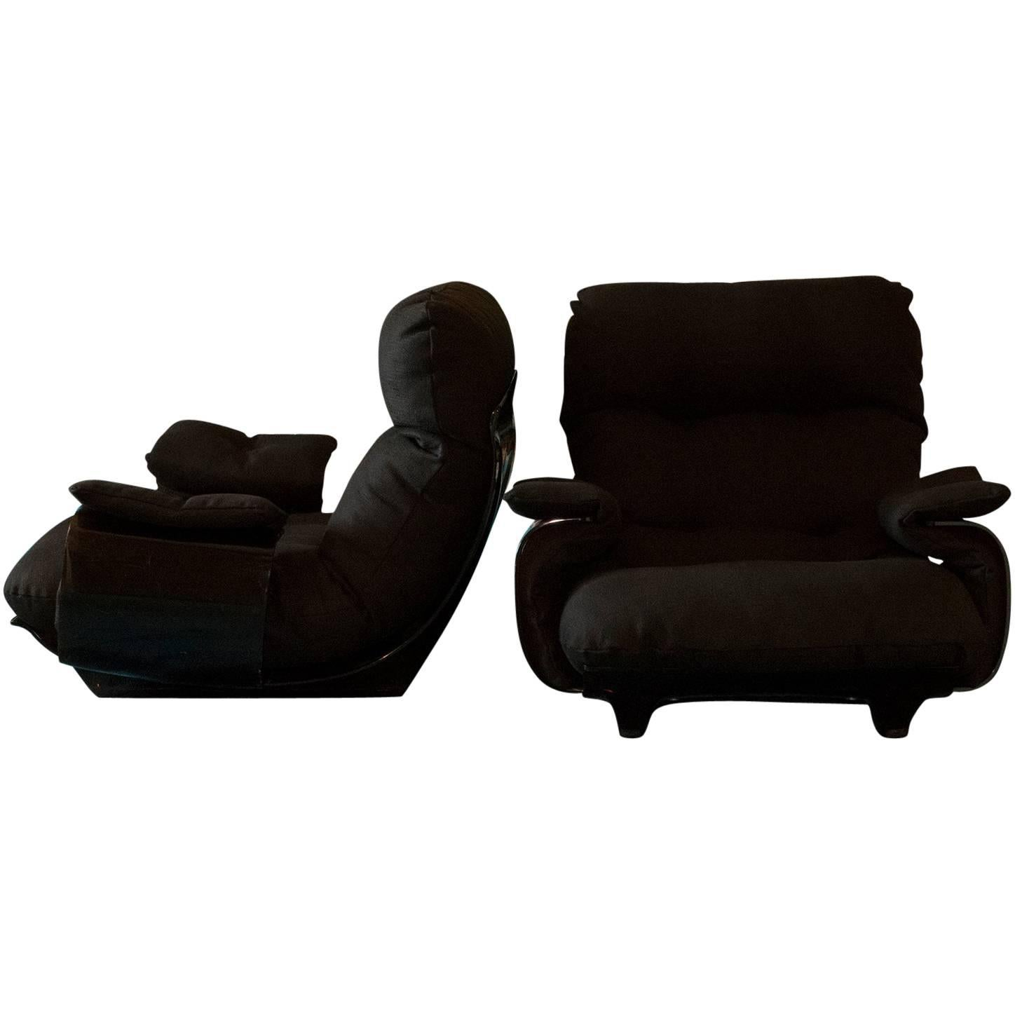 Marsala Lounge Chairs By Ligne Roset, France, 1970 1