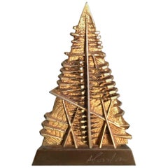 Arnaldo Pomodoro, Sculpture Piramide Bronze with Gold Patina