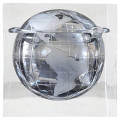 Lucite Globe Ice Bucket / Candy Dish