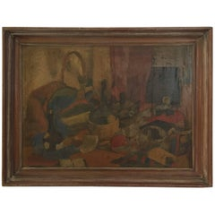 H.C. Meyer Oil on Canvas Still Life Painting, 1941
