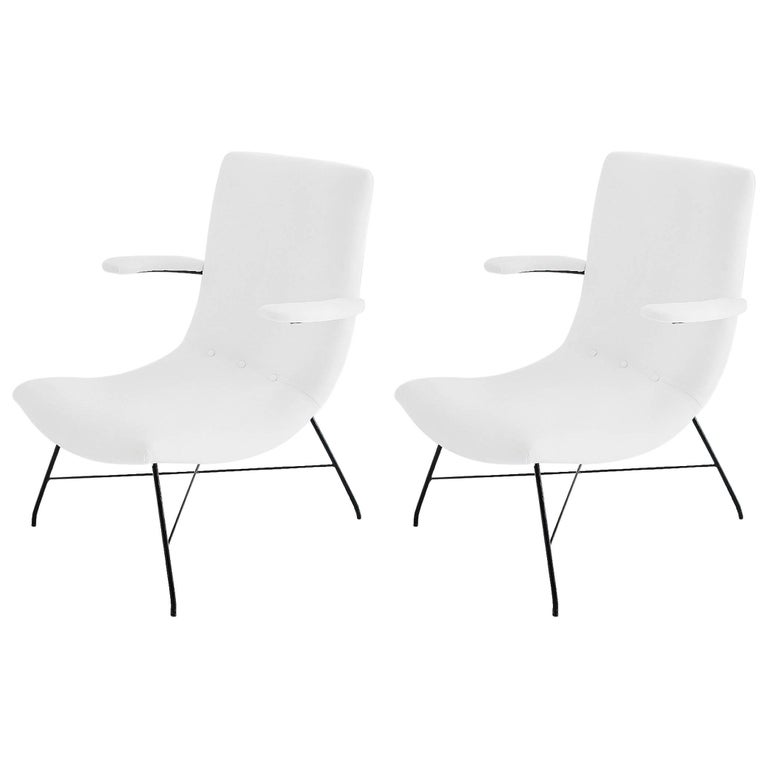 Martin Eisler & Carlo Hauner, Pair of Lounge Chairs, Brazil, 1950s