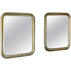 Pair of 19th Century Gilded Louis Philippe Mirrors