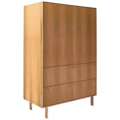 Ingemar Cabinet - Tall (or Dining Hutch or High Boy) in Oak and Bronze