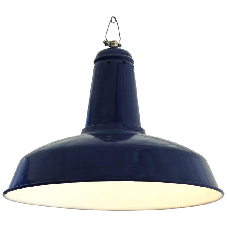 Midcentury Large Industrial Pendant Ceiling Light Loft