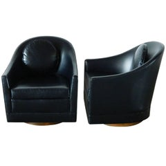 Pair of Harvey Probber Swivel Chairs