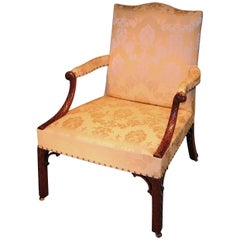 Fine Quality Mid-18th Century Mahogany Gainsborough Armchair