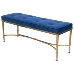 Elegant Brass Bench