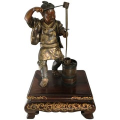 Japanese Meiji Period Bronze Figure