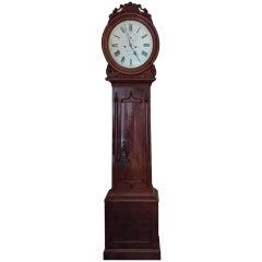 19th Century Irish Mahogany Longcase Clock by Patrick Donegan, Dublin