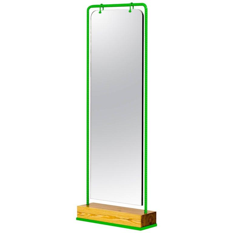 21st Century Custom Contemporary Steel Frame Double-Sided Full Length Mirror