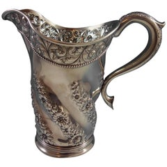 Gorham Sterling Silver Water Pitcher with Hand Chased Scrollwork Marked #1775