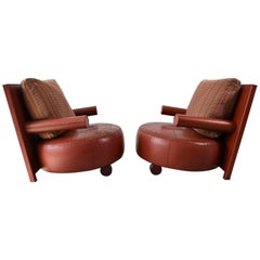Pair of Baisity Lounge Chairs by Antonio Citterio for B&B Italia, Italy, 1985