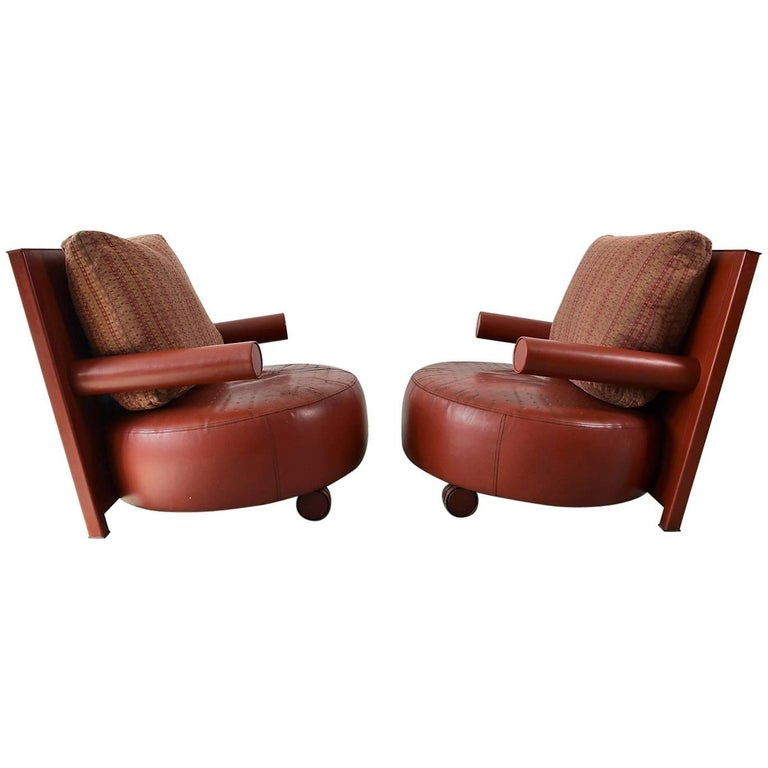 Pair Of Baisity Lounge Chairs By Antonio Citterio For B B