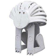Bruno Gambone Lion Ceramic Sculpture Huge Version