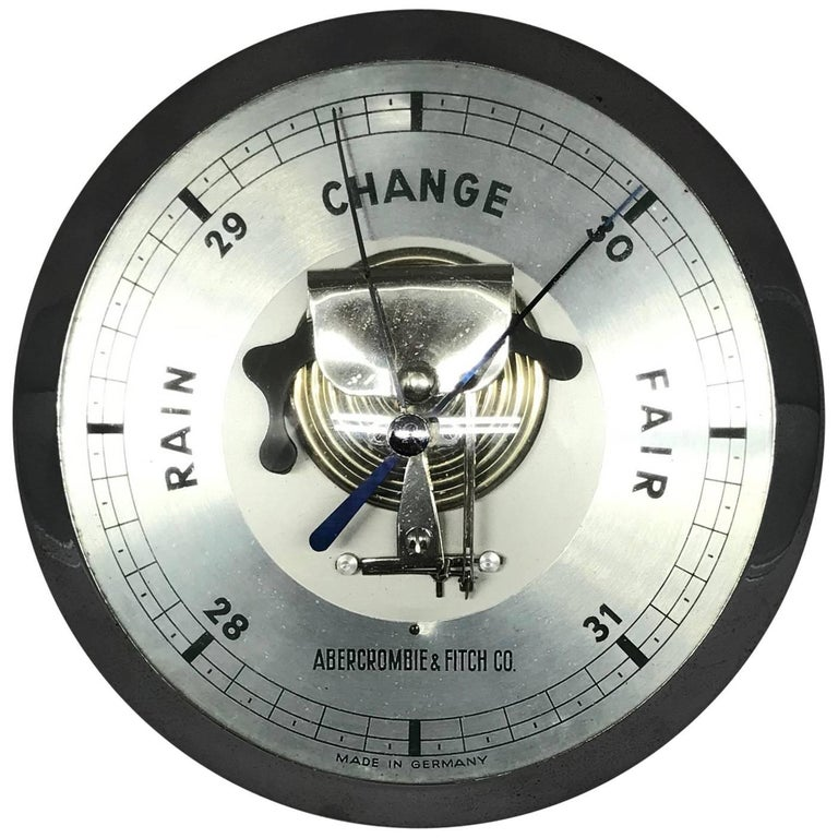 Midcentury Abercrombie and Fitch Barometer