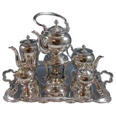 San Marco by Camusso Sterling Silver 7-Piece Tea Set Rectangular Tray Hollowware