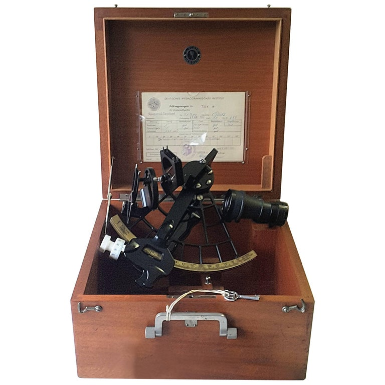 German Ship Sextant from 1968 in Fine Working Condition