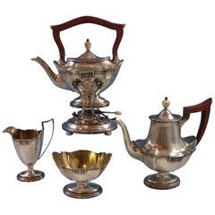 Lansdowne by Gorham Sterling Silver 4 Piece Tea Set Wood Handle Hollowware