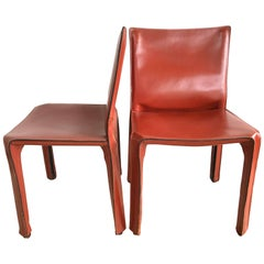"Pair of Mario Bellini ""Cab"" Dining Chairs for Cassina"