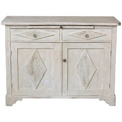 19th Century Swedish Gustavian Sideboard with Diamond Shape Reeded Details