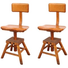 "Pair of Edward Koenig ""Sit-Rite"" Stools"