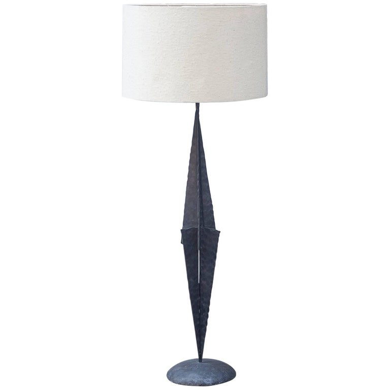 French Brutalist Floor Lamp in the Manner of Paul Evans