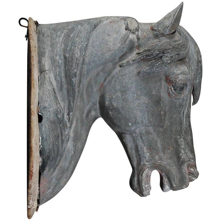 Zinc Horse Head Trade Sign