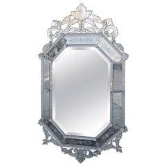 Large-Scale Octagonal Venetian Mirror
