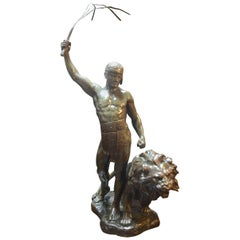 Bronze Sculpture of Lion Tamer