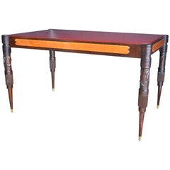 Italian Table with Red Glass Top