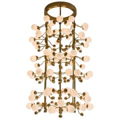 Extremely Large Brass Sputnik Chandelier