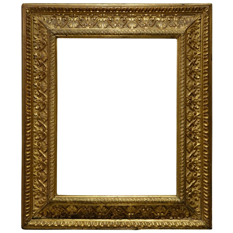 Renaissance Style Wood Carved and Giltded Frame, Italy, circa 1830