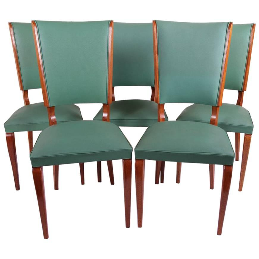 art deco french dining chairs
