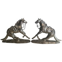 Pair of Metal Horse Bookends